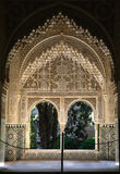 Alhambra Window. Beautiful window in the Alhambra Palace in Granada, Spain Royalty Free Stock Photo