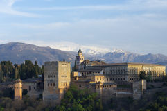 alhambra zmierzch Zdjęcia Stock
