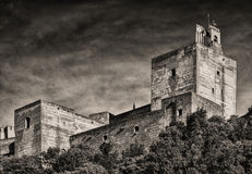 Alhambraen Arkivfoto