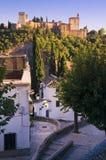 Alhambraen i Granada, Spanien royaltyfria foton
