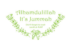 Alhamdulillah il jummah du ` s motivational Photos stock