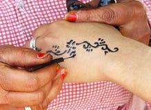 Alheña del tatuaje Fotos de archivo libres de regalías