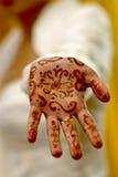 Alheña en la mano de la India Fotos de archivo libres de regalías