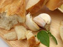 Alho com pão Foto de Stock
