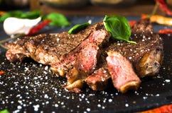 Alho da pimenta do cal da especiaria do bife do BBQ Foto de Stock