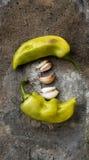 Alho e pimentas doces Fotografia de Stock Royalty Free