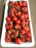 Alho e tomate Foto de Stock Royalty Free
