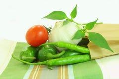 Alho e tomate da pimenta de pimentão Fotografia de Stock Royalty Free