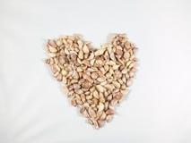 Alho na forma do coração Foto de Stock