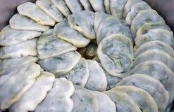 Alho-porro chinês sobremesas cozinhadas Fotografia de Stock Royalty Free