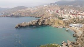 Alhoceima-Stadt, Mittelmeer und Berge, Marokko lizenzfreie stockbilder