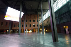 Alhondiga. Bilbao. BILBAO, SPAIN - JULY 2, 2013: Originally a wine warehouse, today is a multi-purpose venue located in the city of Bilbao, Spain. It was Royalty Free Stock Photos