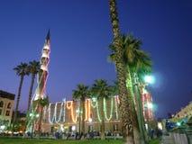 alhussein moské royaltyfria bilder