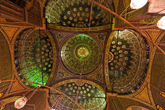ali Каир Египет внутри мечети mohammed Стоковое Изображение RF