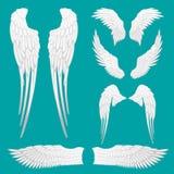Ali araldiche messe per progettazione della mascotte o del tatuaggio illustrazione di stock