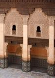 Ali Ben Youssef Madrasa. Courtyard of Ali Ben Youssef Madrasa (Marrakech, Morocco Stock Photos