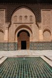 Ali Ben Youssef Madrasa Royaltyfria Bilder