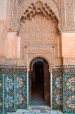 Ali Ben Youssef Madrasa islamisk högskola i Marrakesh, Marocko Royaltyfria Foton