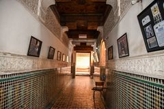 Ali Ben Youssef Madrasa Marrakech, Marocko Arkivbilder