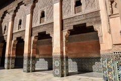 Ali Ben Youssef Madrasa Marrakech, Marocko Royaltyfria Foton