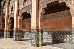 Ali Ben Youssef Madrasa Marrakech, Marocko Royaltyfri Bild