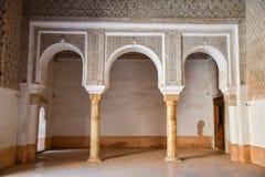 Ali Ben Youssef Madrasa Marrakech, Marocko Arkivbild