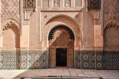 Ali Ben Youssef Madrasa Marrakech, Marocko Royaltyfria Bilder