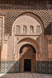Ali Ben Youssef Madrasa Marrakech, Marocko Royaltyfri Foto