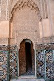 Ali Ben Youssef Madrasa, Marrakech, Marokko Royalty-vrije Stock Afbeelding