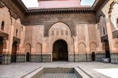 Ali Ben Youssef Madrasa, Marrakech, Marokko Stock Afbeelding
