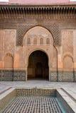 Ali Ben Youssef Madrasa, Marrakech, Marokko Royalty-vrije Stock Afbeeldingen