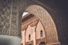 Ali Ben Youssef Madrasa, Marrakech, Marokko Stock Afbeeldingen