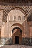 Ali Ben Youssef Madrasa, Marrakech, Marokko Royalty-vrije Stock Foto