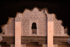 Ali Ben Youssef Madrasa Marrakesh, Marocko Fotografering för Bildbyråer