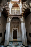 Ali Ben Youssef Madrasa Marrakesh, Marocko Arkivbild