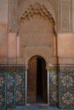Ali Ben Youssef Madrasa Marrakesh, Marocko Arkivbilder