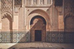 Ali Ben Youssef Madrasa, Marrakesh, Marruecos imágenes de archivo libres de regalías