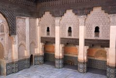 Ali Ben Youssef Madrassa in Marrakech, Morocco. Stock Image