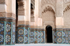 Ali Ben Youssef Madrassa in Marrakesch, Marokko Lizenzfreie Stockfotografie