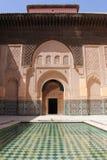 Ali Ben Youssef Madrassa stupefacente bello, Marrakesh immagine stock
