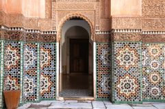 Ali ben Youssef Medersa Stock Photos