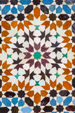 Ali ben Youssef Medersa exterior pattern in Marrakesh, Morocco Stock Images