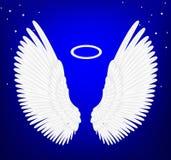 Ali bianche di angelo Fotografie Stock