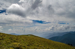Ali bugyal - Roopkund Trek. A view from Ali bugyal in Uttarakhand, India Stock Images