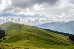 The Ali Bugyal. A view of Ali Bugyal, Uttarakhand, India Royalty Free Stock Photo