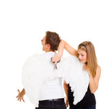 Ali cuting della ragazza difettosa Fotografie Stock