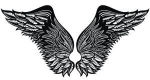 Ali del tatuaggio Eagle Bird o Angel Wings Immagine Stock