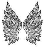 Ali di angelo - disegno dell'inchiostro Immagini Stock Libere da Diritti
