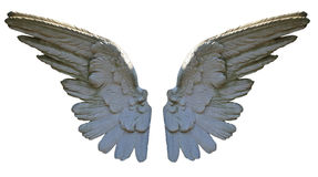 Ali di pietra di angelo Immagini Stock