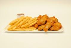 Ali di pollo Fotografie Stock